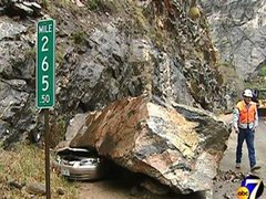 Rock Climbing Photo: Don't park near the crag, this could happen, or at...