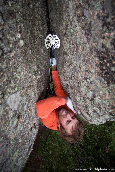 Rock Climbing Photo: Patrick on Glass Hummingbird