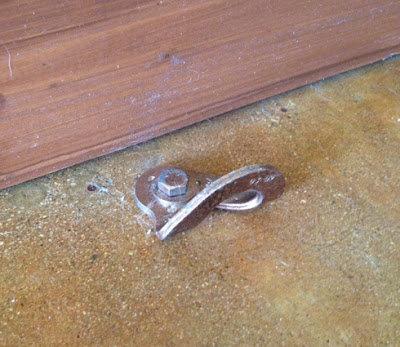 Rock Climbing Photo: Bolt hanger door stop
