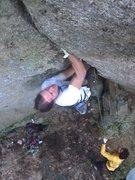 Rock Climbing Photo: super steep fisting on Fisting Jon