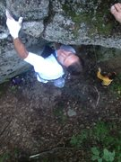 Rock Climbing Photo: That's Dave Weston's foot in the upper right corne...