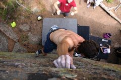 """Rock Climbing Photo: I was testing out Organic's new """"baby"""" c..."""