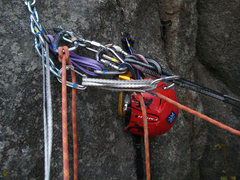Rock Climbing Photo: Gear management on Athlete's feat.