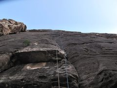 Rock Climbing Photo: Where the fun starts. Don't pass up any good nut p...