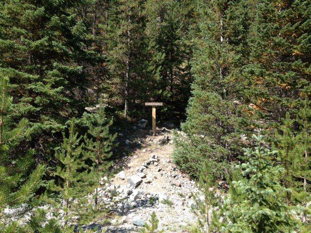 Rock Climbing Photo: Hidden Wall sign at trailhead.