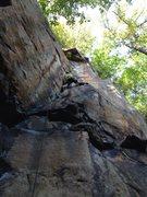 Rock Climbing Photo: Joe DeGaetano mid climb.