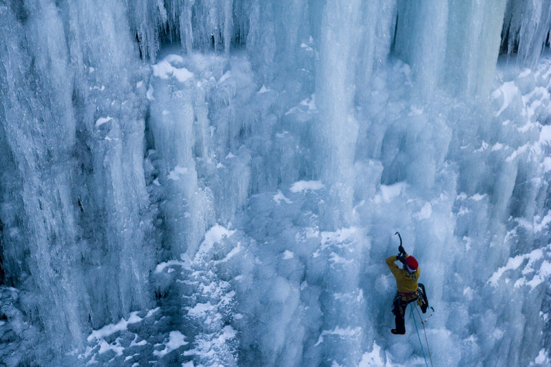 Rock Climbing Photo: Marty T. climbing Parlee Brook, N.B's Blue Pillar ...