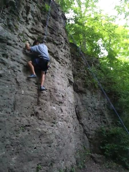 First climb on the blue route. 8/22/12