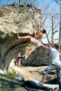"Rock Climbing Photo: ""Ermenegilda"" Dx side 7c (about v9) Very..."