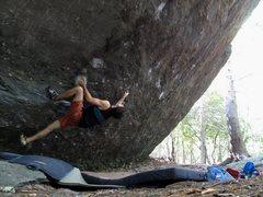 """Rock Climbing Photo: """"Hyperion"""" FA"""