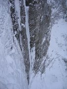 Rock Climbing Photo: Looking down off the last pitch of The Terminator