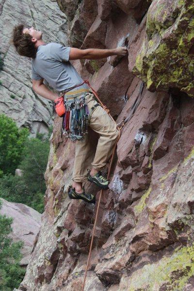 Rock Climbing Photo: Making it Rain!