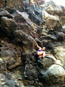 """Rock Climbing Photo: Hanging out in the """"egg"""" on Fire in the ..."""