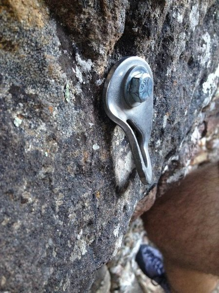 Rock Climbing Photo: Bent hanger