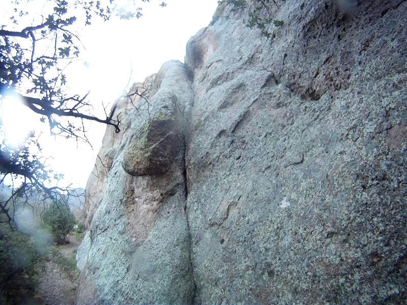 the start of the climb