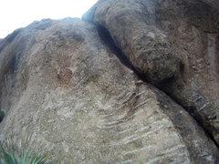 Rock Climbing Photo: left leaning crack
