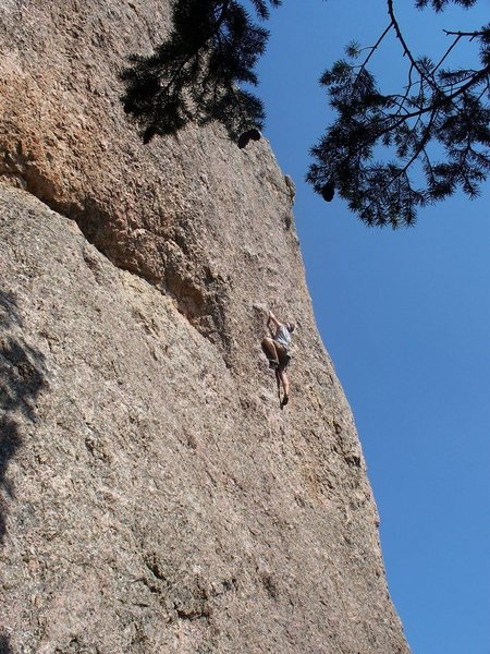 Rock Climbing Photo: At the crux of Inner Peace @ the Monastery