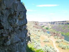 Rock Climbing Photo: Kate staring down the crux.