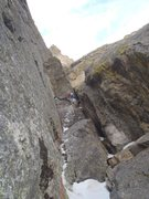 Rock Climbing Photo: Chris Sheridan gaining the weird sort of offwidth ...