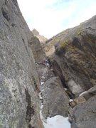 Rock Climbing Photo: Chris Sheridan gaining the weird sort of offwidth ...