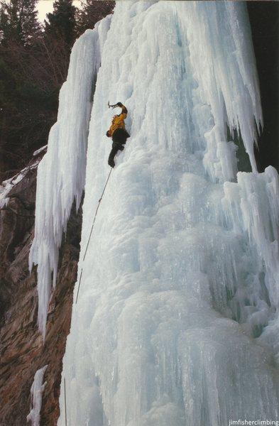 Rock Climbing Photo: me on the Des.