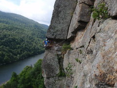 Rock Climbing Photo: Brain leading the second pitch of The El.  Pete's ...