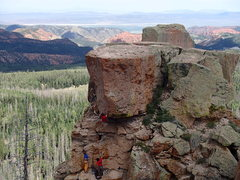 Rock Climbing Photo: A route I established at The Overlook called, Phot...