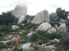 Rock Climbing Photo: El Cariso can get snow, this is a view of the firs...