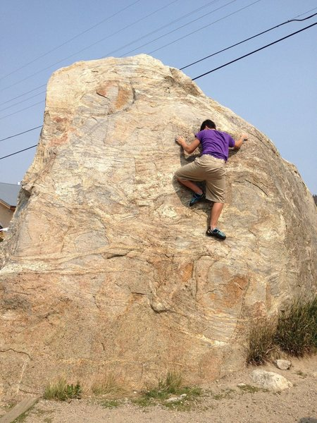 Rock Climbing Photo: First ascent of Bada Bing Bada Boom and Some Coffe...