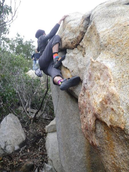 Rock Climbing Photo: Mike Harper aka the Kat getting the FA. the start ...