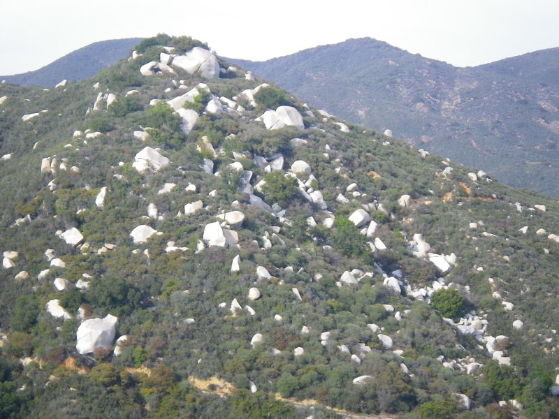 Rock Climbing Photo: looking at the aid hill from the next hill over SW...