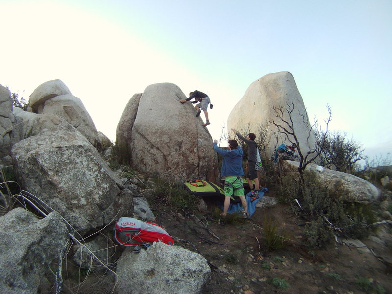 Rock Climbing Photo: me passing the crux