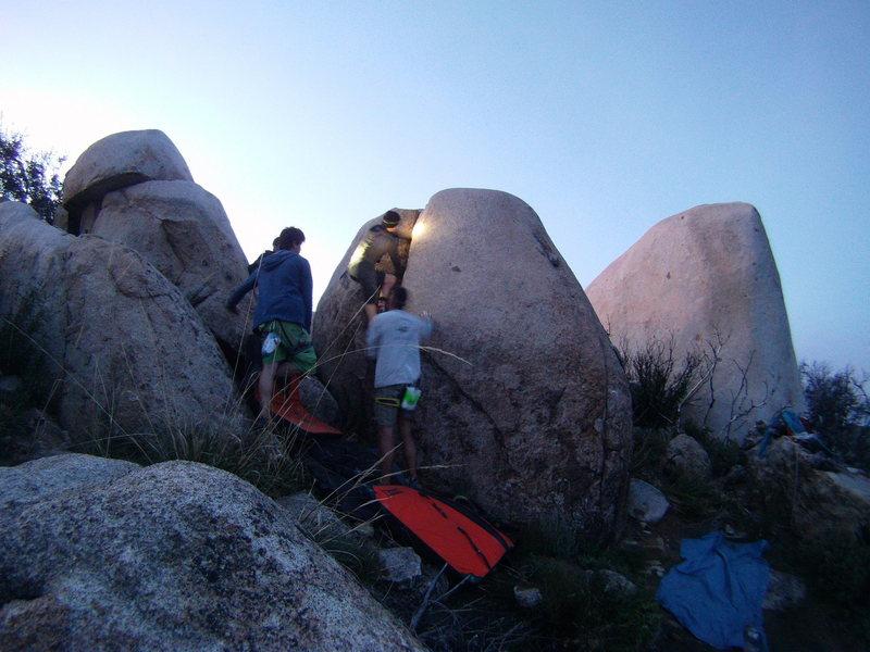 Rock Climbing Photo: kat climbs crack