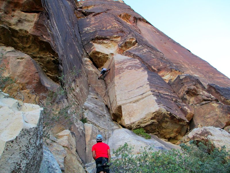 Rock Climbing Photo: Jonny on P-1 of The Misunderstanding. Awesome rout...