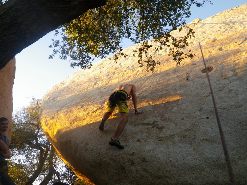 Rock Climbing Photo: Jeff Mumaugh just after the start move work up and...