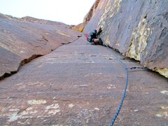 Rock Climbing Photo: The second pitch has no dull moments. I love this ...