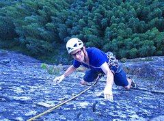 Rock Climbing Photo: Nicola Masciandaro on the last few moves of Lovin ...