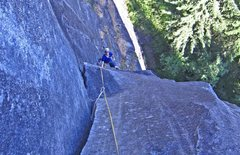 Rock Climbing Photo: Nicola Masciandaro in the middle of the second pit...