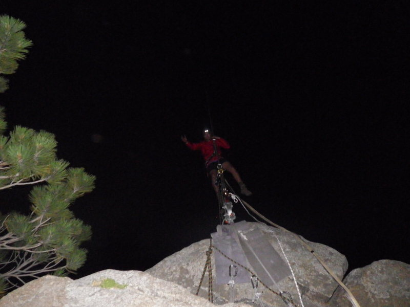 Rock Climbing Photo: me on the highline spanning yosemite falls, Damian...