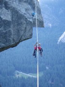 Rock Climbing Photo: Damian coming across the line after setting the an...