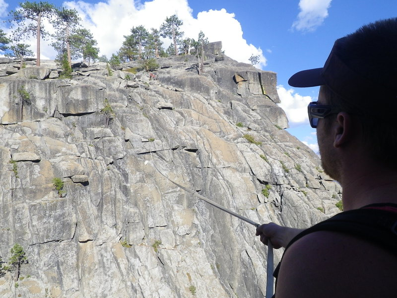 Rock Climbing Photo: This is me and Damian on the other side getting th...