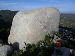 Rock Climbing Photo: view of the anchor and static rope over the top, c...
