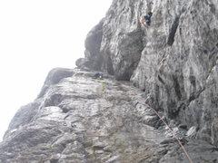 Rock Climbing Photo: The long corner.