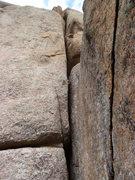 Rock Climbing Photo: The chimney.