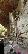 Rock Climbing Photo: This line works up the small crack system that fin...