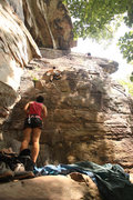 Rock Climbing Photo: Having some fun on Fat Lady Sings, which has a cou...