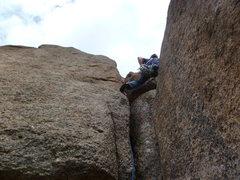 Rock Climbing Photo: Near the bottom just after the start.