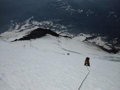 Rock Climbing Photo: push to the summit