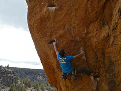 Rock Climbing Photo: Yes, that IS the crux move.  Whatever your beta, t...