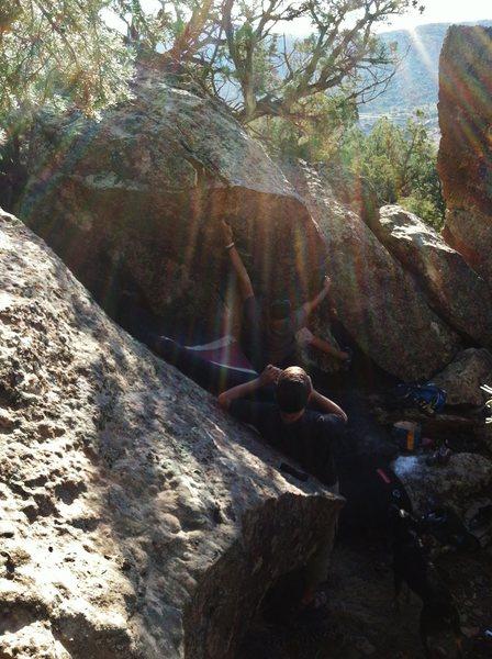 Rock Climbing Photo: Kody working Talespin.